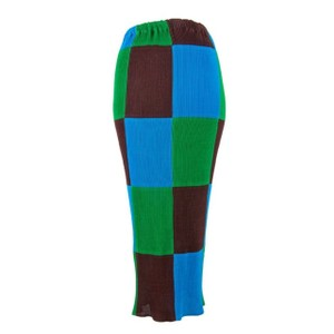 Issey Miyake Japan Couture Maxi Skirt Brown, Green, Blue