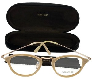 7ed95d1d140 Tom Ford FT5321-060 Oval Men s Beige Frame Clear Lens 47mm Genuine  Eyeglasses