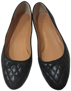 J.Crew Chanel Quilted Ballet Slipper Black Flats