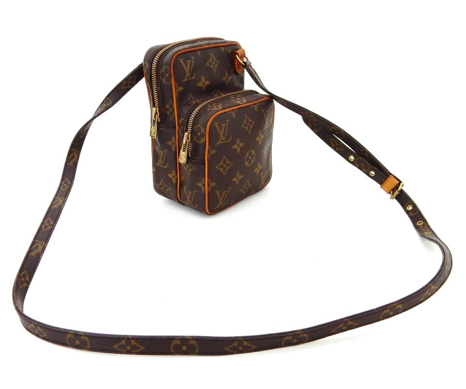 2849237e574b Louis Vuitton Amazon Vintage Mini Brown Monogram Canvas Leather ...