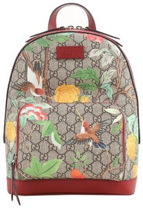 Gucci Supreme Canvas Leather Animal Print Backpack