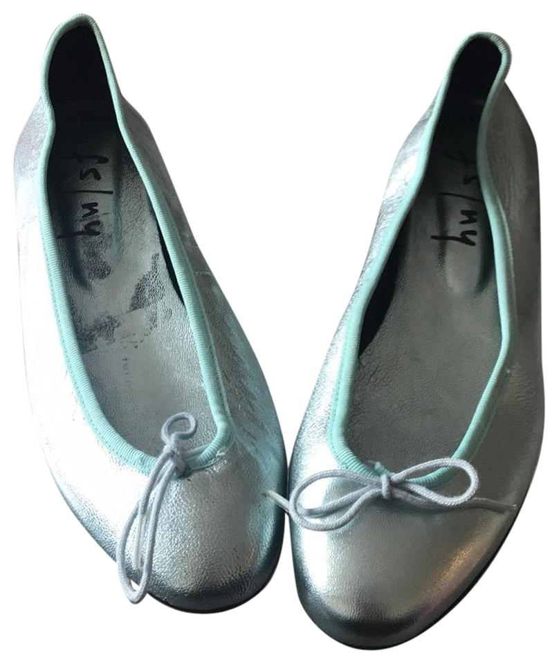 e4932faac French Sole Metallic Light Blue Ny Ballet Flats Size US 8.5 Regular ...