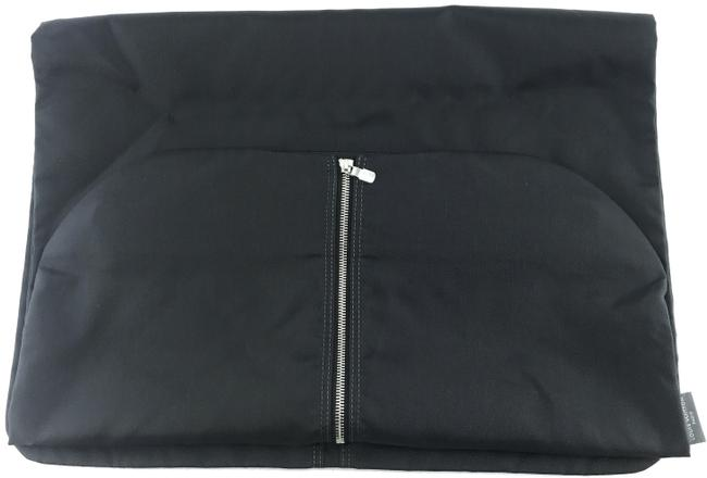 Item - Garment Cover #26787 Rare Fabric Hanger Portable Long Black with Silver Hardware Canvas Weekend/Travel Bag