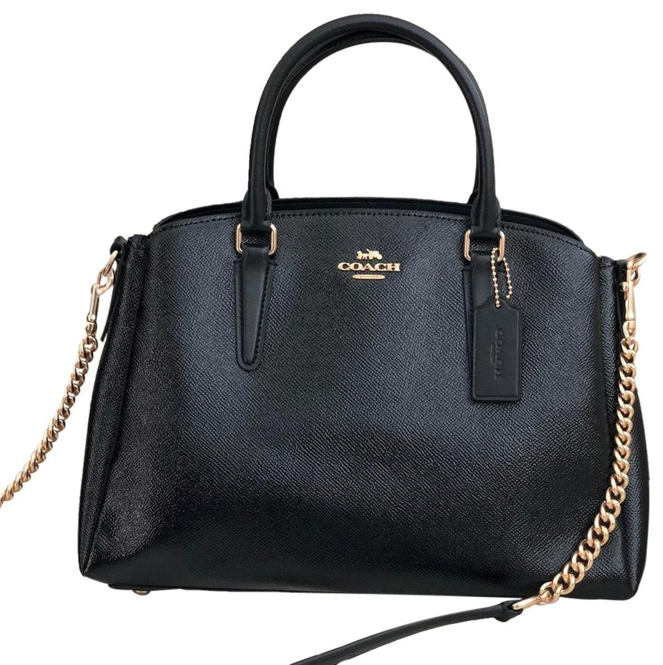 hoard as a rare commodity check out stylish design Coach Carryall Sage Handbag Black Patent Leather Satchel 55% off retail
