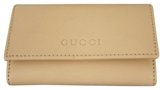 Gucci GUCCI Leather Key Chain/ Holder BEIGE w/Box 260989 9910 Image 0