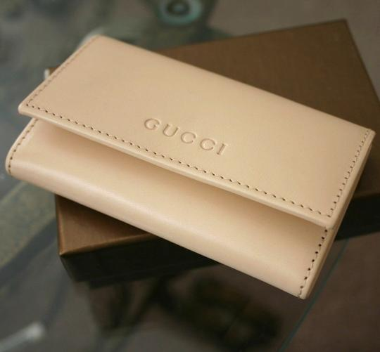 Gucci GUCCI Leather Key Chain/ Holder BEIGE w/Box 260989 9910 Image 2