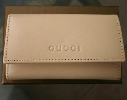 Gucci GUCCI Leather Key Chain/ Holder BEIGE w/Box 260989 9910 Image 3
