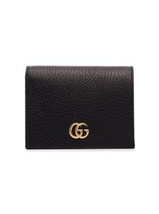 Gucci GUCCI black GG Marmont leather wallet