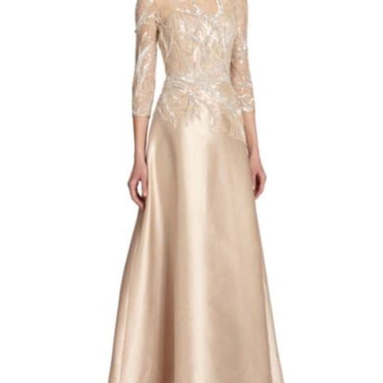Preload https://img-static.tradesy.com/item/24766266/rickie-freeman-for-teri-jon-champagne-satiny-outer-fabric-sheer-sleeves-and-bodice-area-sparkly-unde-0-0-540-540.jpg