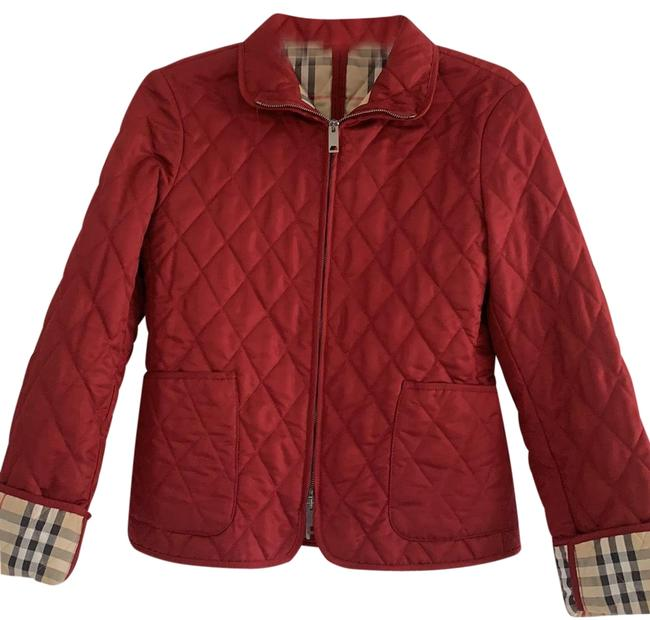 Item - Red Quilted Nova Check Jacket Size 4 (S)
