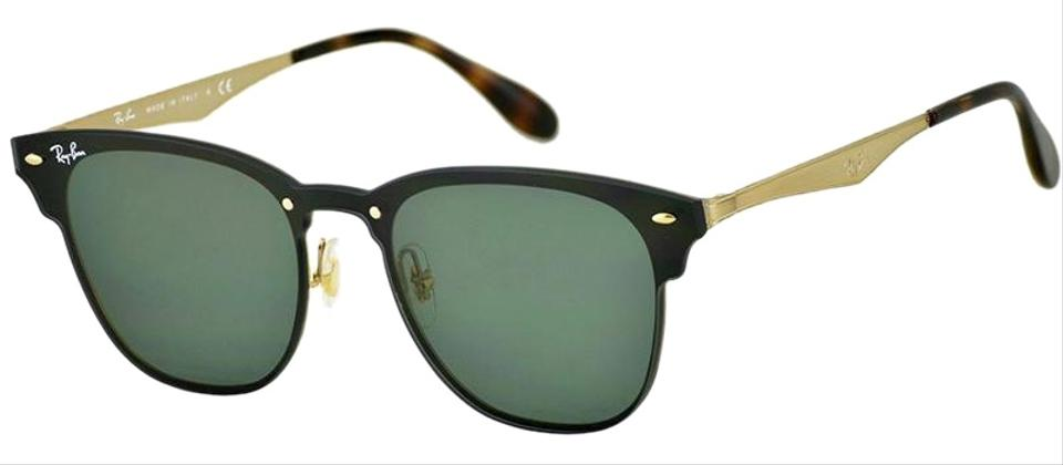 Ray-Ban Gold Black Frame   Green Classic Lens Unisex Square Sunglasses cda67803ae