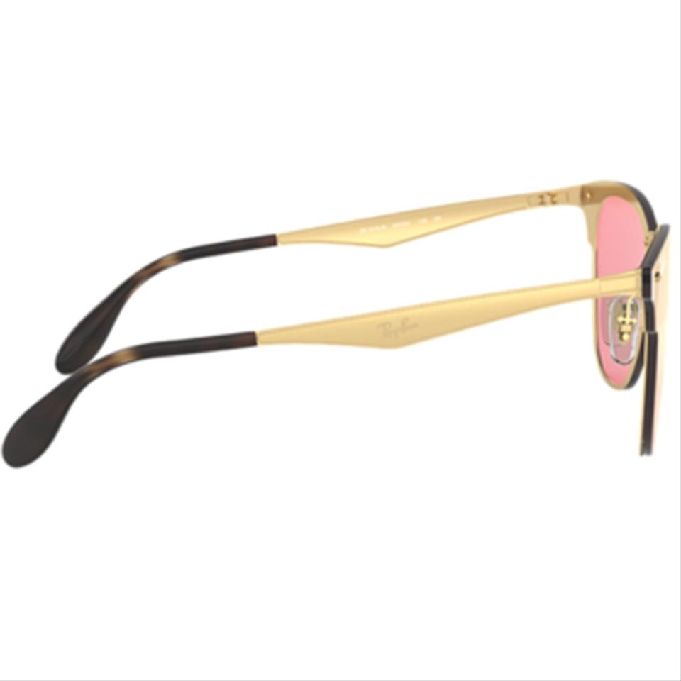 961a8a62961 Ray-Ban Gold Frame   Pink Mirrored Lens Unisex Square Sunglasses - Tradesy