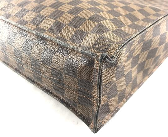 Louis Vuitton Sac Plat Canvas Tote in Damier Ebene