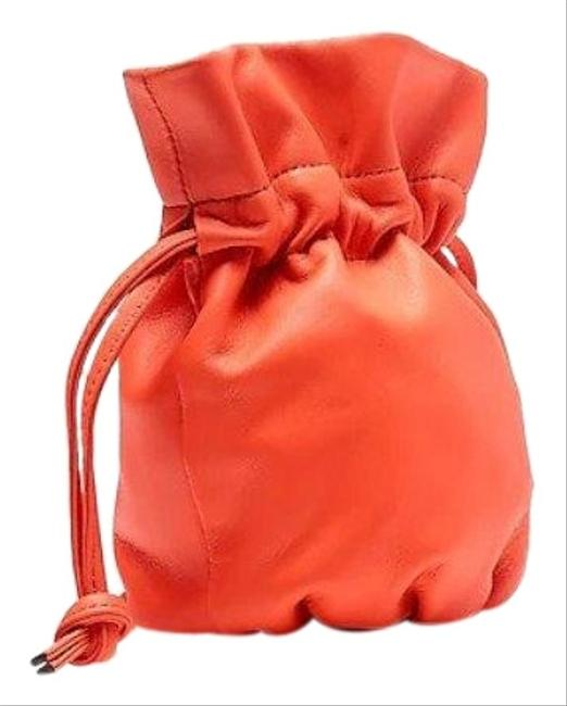 Item - Mini Pouch Coral Leather Cross Body Bag