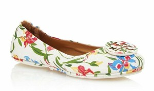 Tory Burch White floral multi Flats