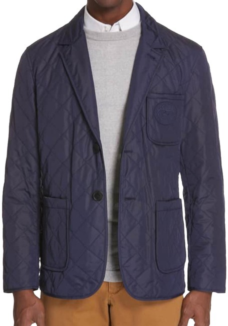Item - Bright Navy Mens Clifton Quilted 56eu / 46us Blazer Size 24 (Plus 2x)