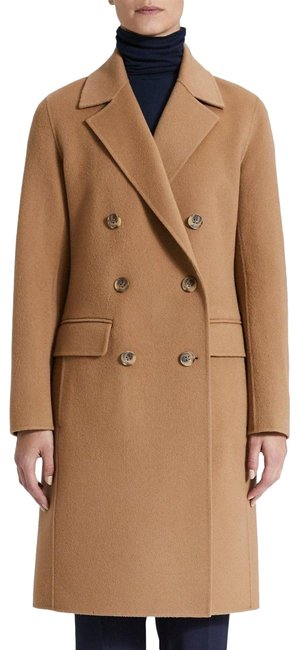 Item - Camel Tan New Double Faced Wool Cashmere Jacket Coat Size 4 (S)