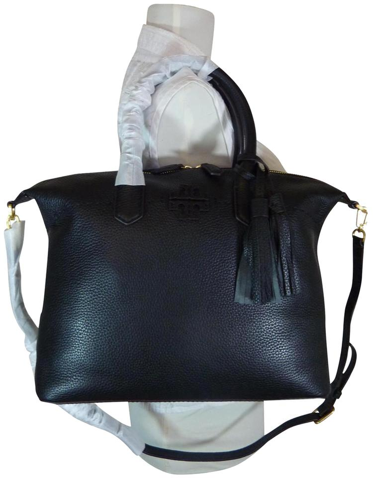 94f26a5d38e8 Tory Burch Mcgraw Slouchy Satchel Cross Body Black Leather Satchel ...