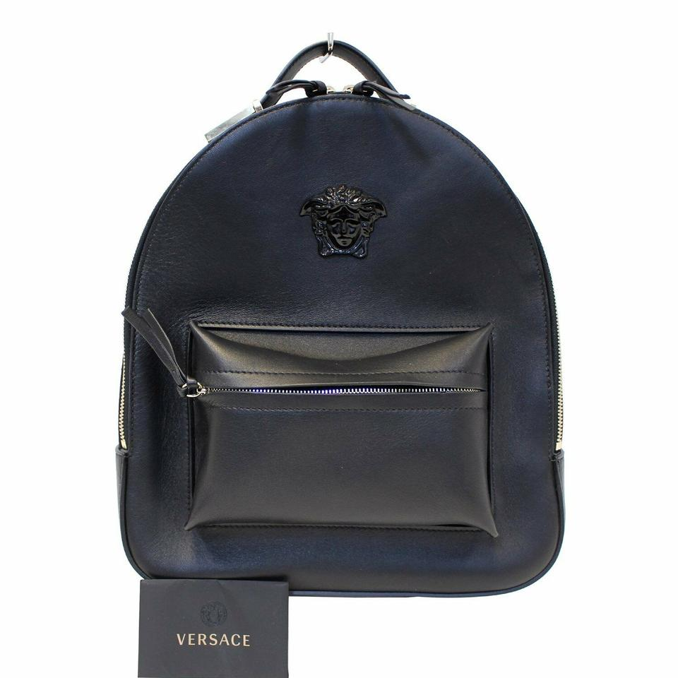 cdaf53f0a3 Versace Nappa Leather Palazzo Black Backpack - Tradesy