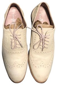 Cole Haan Oxford Suede Two-tone Cream, Pink Flats