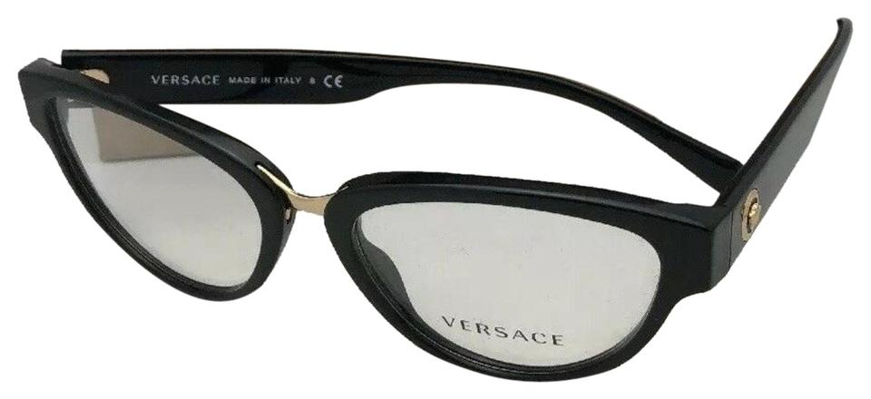 79d3aa22359 Versace New VERSACE Eyeglasses MOD.3257 5266 53-18 Striped Havana To Clear  Image ...