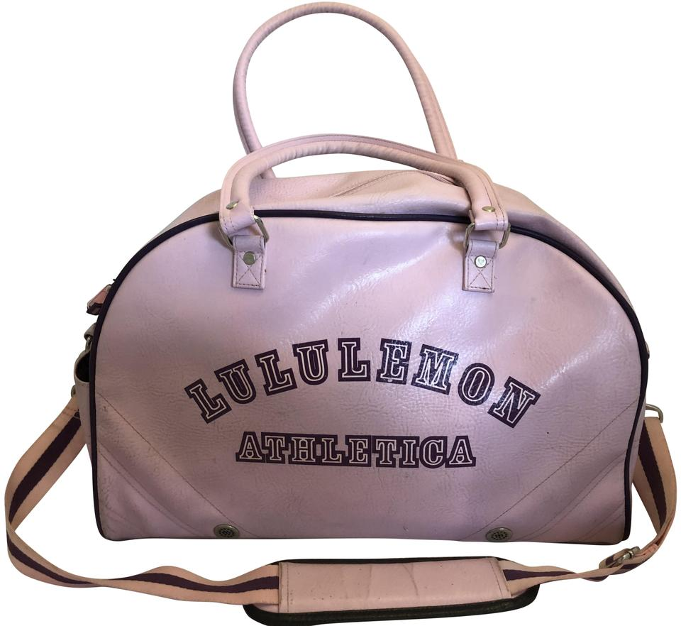 38c4a0cea116 Lululemon Weekend/Travel/Gym/Swiming Pink and Purple Leather Cloth  Weekend/Travel Bag 59% off retail