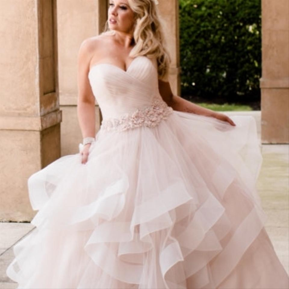 b006fc12e076 Allure Bridals Blush Horsehair Bottom Gown Feminine Wedding Dress Size 6  (S) Image 4. 12345