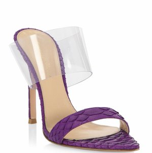 Gianvito Rossi Purple Mules