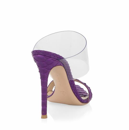 Gianvito Rossi Purple Mules Image 1