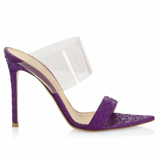 Gianvito Rossi Purple Mules Image 2