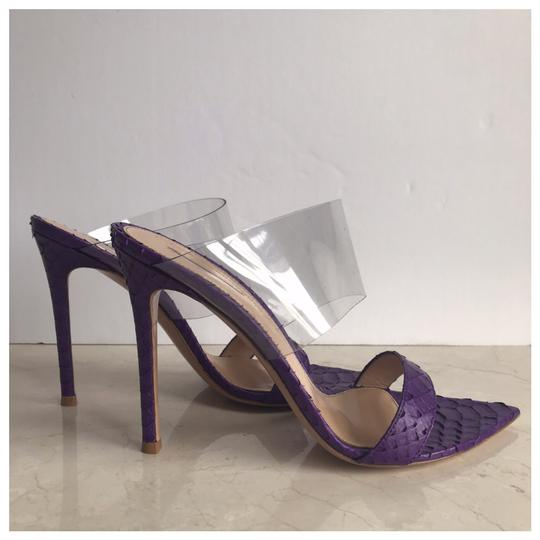 Gianvito Rossi Purple Mules Image 6
