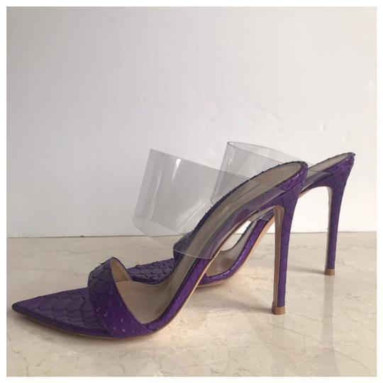 Gianvito Rossi Purple Mules Image 7