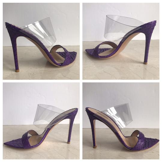 Gianvito Rossi Purple Mules Image 8