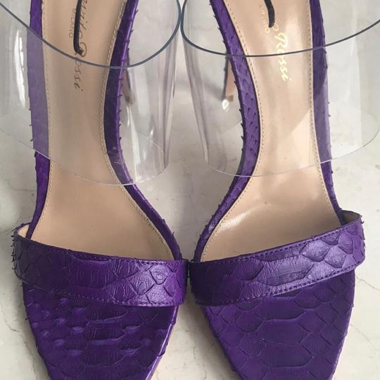Gianvito Rossi Purple Mules Image 9