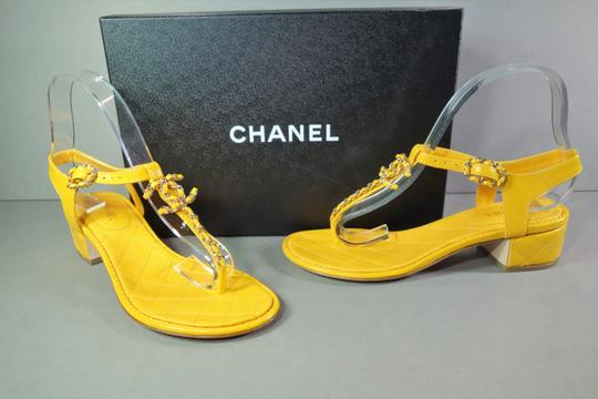 Chanel Yellow Sandals Image 1