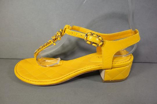 Chanel Yellow Sandals Image 2