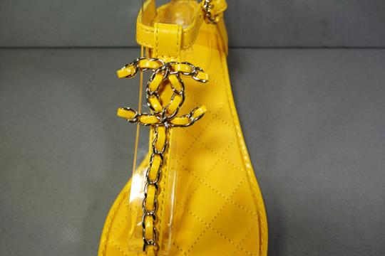 Chanel Yellow Sandals Image 3