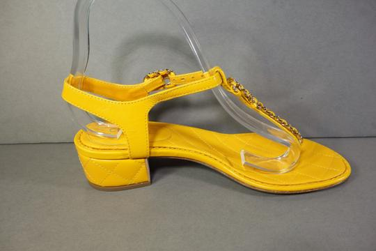 Chanel Yellow Sandals Image 4