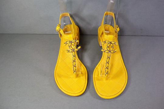 Chanel Yellow Sandals Image 5