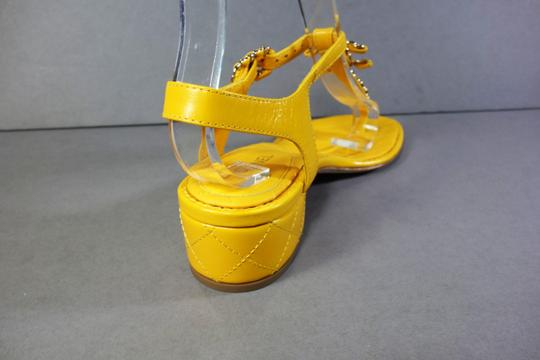 Chanel Yellow Sandals Image 8