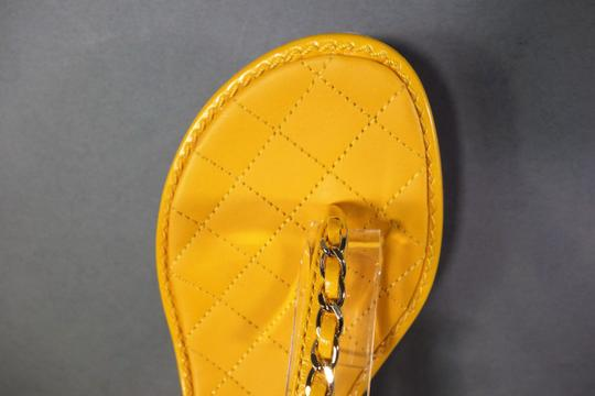 Chanel Yellow Sandals Image 9