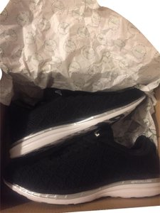 A.P.L. Sneakers Athleisure Running Sporty Chic Black w. White Sole and Silver Accent Athletic