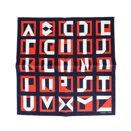 Preload https://img-static.tradesy.com/item/24767704/hermes-multicolor-lettres-au-carre-45-deco-alphabet-blanc-marine-rouge-scarfwrap-0-0-540-540.jpg