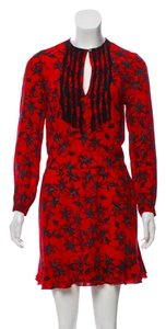 Zadig & Voltaire short dress Red Silk Floral Lace on Tradesy