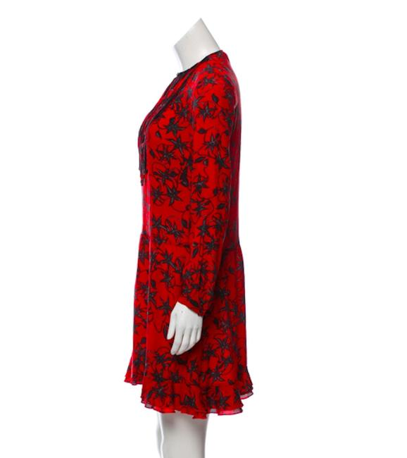 Zadig & Voltaire short dress Red Silk Floral Lace on Tradesy Image 1