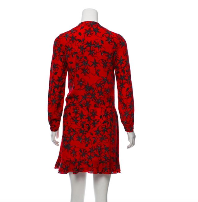 Zadig & Voltaire short dress Red Silk Floral Lace on Tradesy Image 2