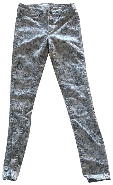 Item - Beige Floral 14 Skinny Jeans Size OS (one size)
