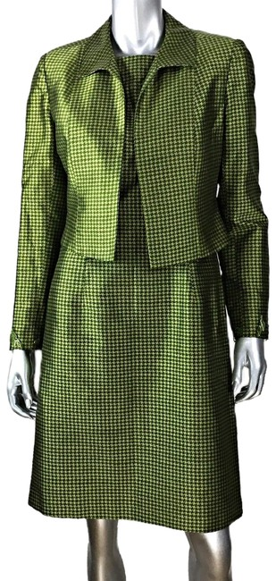 Item - Green Houndstooth and Jacket Short Work/Office Dress Size 8 (M)