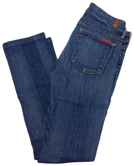 7 For All Mankind Skinny Jeans-Medium Wash Image 0