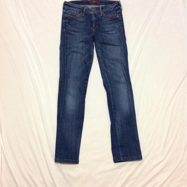 7 For All Mankind Skinny Jeans-Medium Wash Image 1